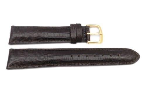 Hadley Roma Mens' Brown Teju Lizard Grain Hypo Allergenic Watch Strap