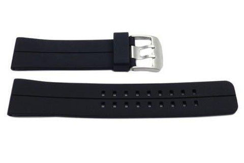 Black Silicone Prong Buckle Watch Strap