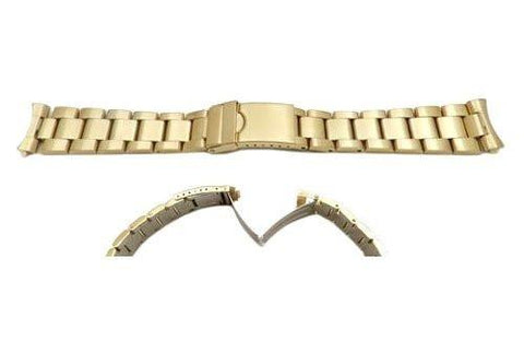 Hadley Roma 20mm Gold Tone Rolex Oyster Style Solid Link Watch Bracelet