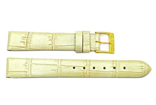 Alligator Grain Flat Genuine Leather Watch Strap - Assorted Colors image