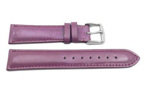 Hadley Roma Ladies 18mm Purple Genuine Leather Watch Strap (Clearance)