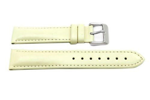 Hadley Roma Ladies Almond Genuine Leather Watch Strap
