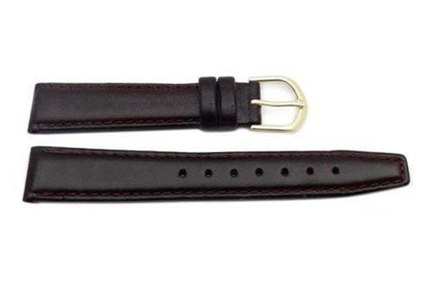 Hadley Roma Ladies 16mm Mahogany Oil-Tan Leather Watch Strap (Clearance)