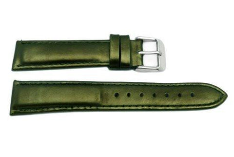 Hadley Roma Ladies Olive Genuine Leather Watch Strap