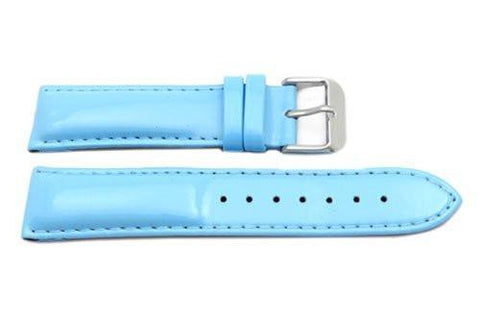 Hadley Roma Ladies Light Blue Genuine Leather Watch Strap