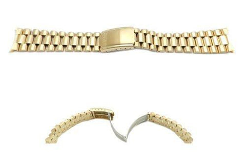 Seiko Gold Tone President Style 20mm Watch Band