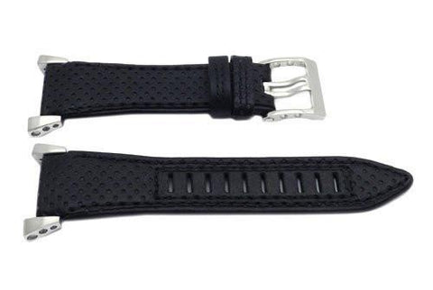 Seiko Black Leather Sportura Chronograph Watch Strap