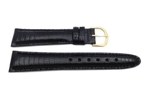 Seiko Black Genuine Java Lizard 20mm Watch Strap
