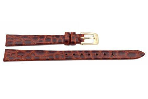 Seiko Brown Leather Crocodile Grain Ladies Watch Band