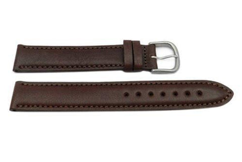 Hadley Roma Men's Brown Self-Lined Water Resistant Leather Watch Band