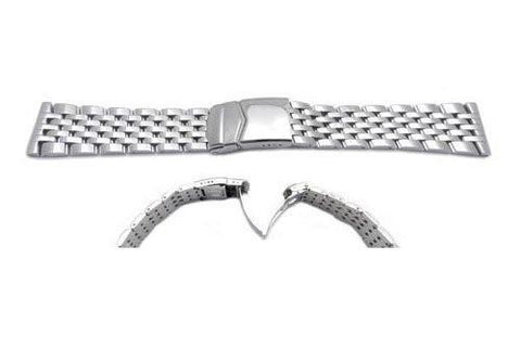 Hadley Roma Mens 22mm Stainless Steel Watch Bracelet
