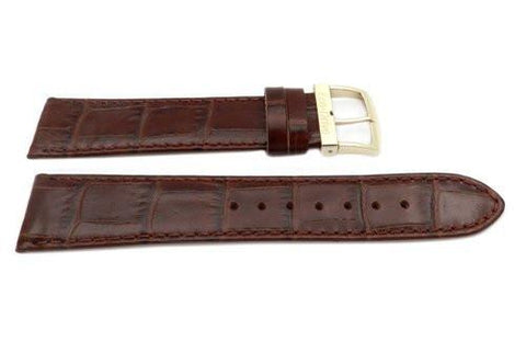 Genuine Citizen Eco-Drive Brown 20mm Textured Leather Watch Strap