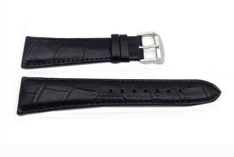 Citizen Black 23mm Crocodile Grain Leather Watch Band