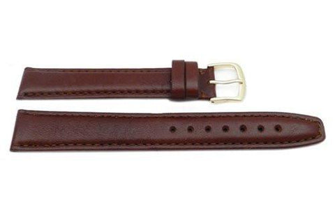 Hadley Roma Brown 18mm Genuine Leather Hypo Allergenic Long Watch Band