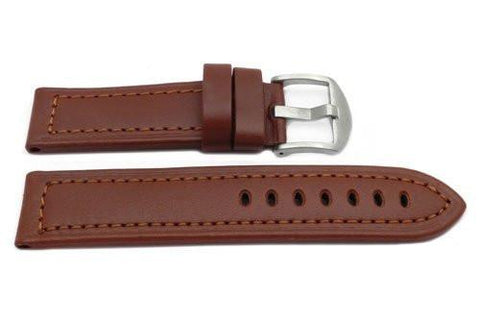 Hadley Roma Panerai Style Tan Genuine Leather Wide Watch Band