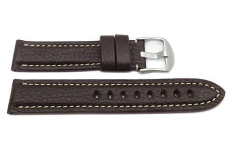 Hadley Roma Brown Genuine Vegetable Tanned Leather Panerai Style Watch Strap