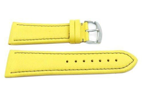 Hadley Roma Genuine Lorica Yellow Invicta Style Waterproof Watch Strap