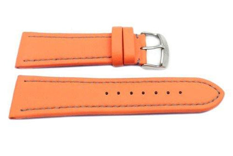 Hadley Roma Genuine Lorica Orange Invicta Style Waterproof Watch Strap