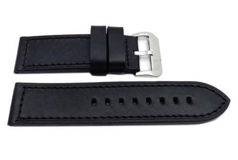 Hadley Roma Genuine Saddle Leather Brown Extra Heavy Padded Watch Strap