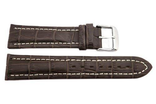 Hadley Roma Brown Alligator Grain Breitling Style Watch Band