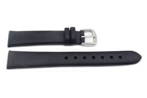 Hadley Roma Black Ladies Oil Tan Leather Smooth Watch Strap