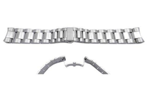 Swiss Army Stainless Steel Chrono Classic Silver Tone 21mm Mens' Watch Band