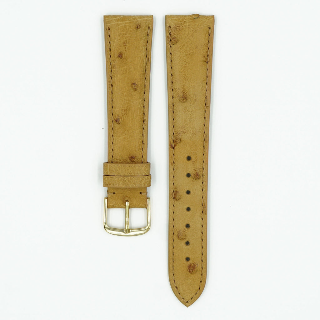 Ostrich Natural Leather Watch Strap image
