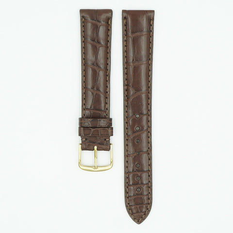 Genuine Matte Alligator Brown Watch Strap