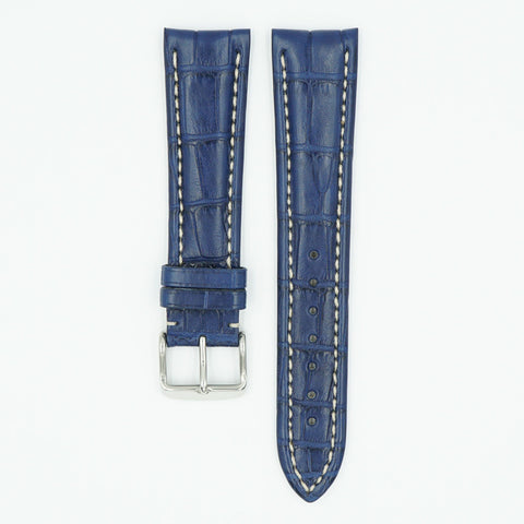 Premier Alligator Matte Blue Watch Strap