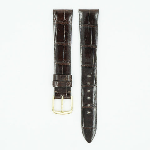 Patek Alligator Brown Leather Watch Strap