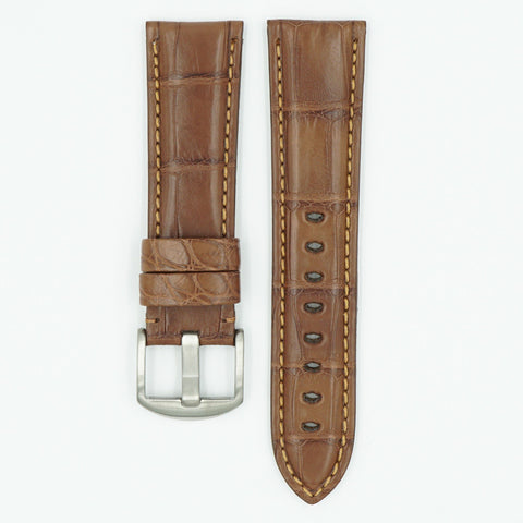 Alligator Tan Panerai Style Watch Strap