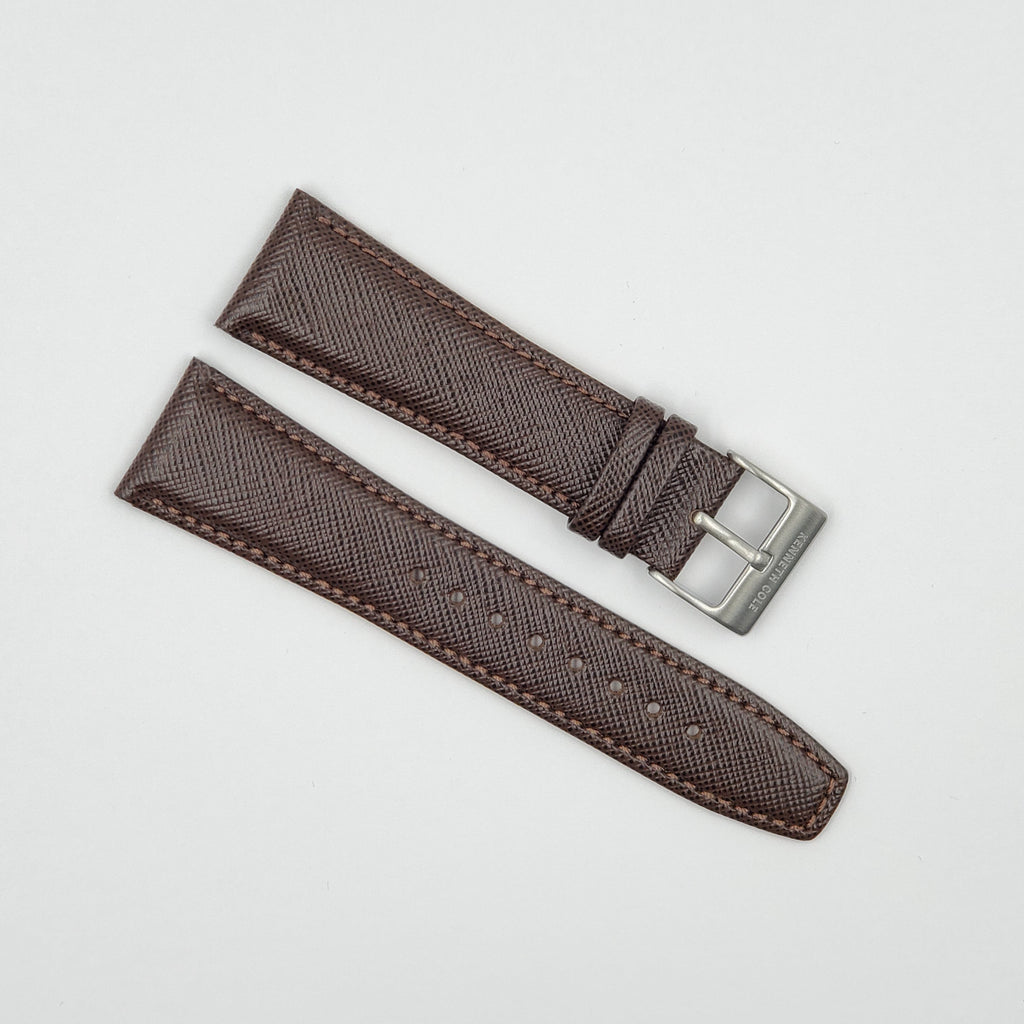 KENNETH COLE KC7417 BROWN 24MM LEATHER BAND