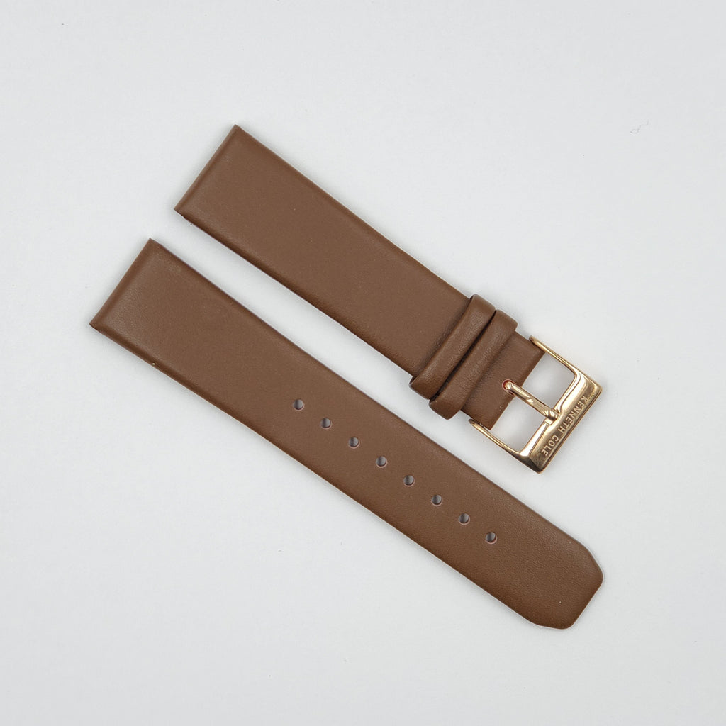 KENNETH COLE KC8094 BROWN 22MM LEATHER BAND image