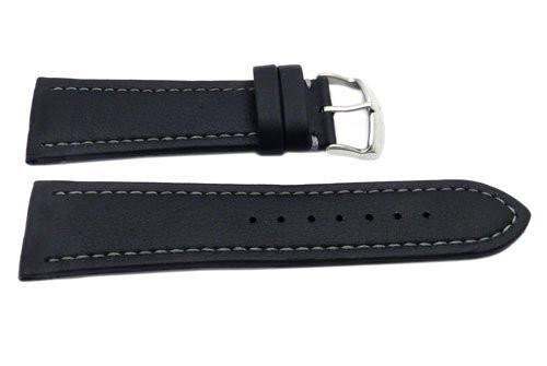Hadley Roma Genuine Lorica Black Invicta Style Waterproof Watch Strap