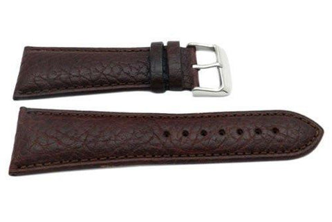 Hadley Roma Brown Mens Genuine Textured Leather Watch Strap