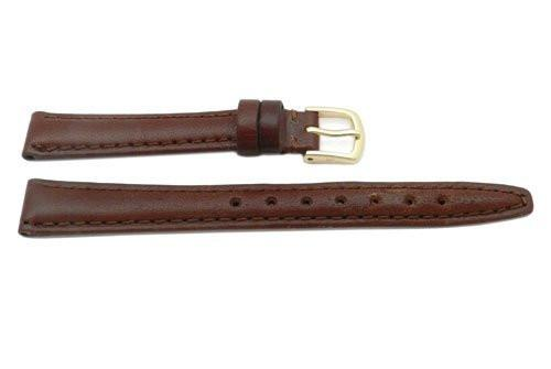 Hadley Roma Brown Ladies Genuine Leather Thin Hypo Allergenic Watch Band