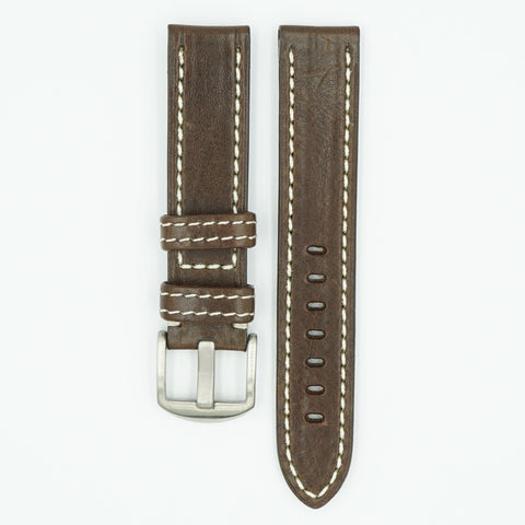 Brown Vegetable Tanned Leather Watch Band