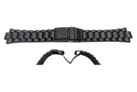 Genuine Citizen Black PVD Brushed and Polished Stainless Steel Watch Strap