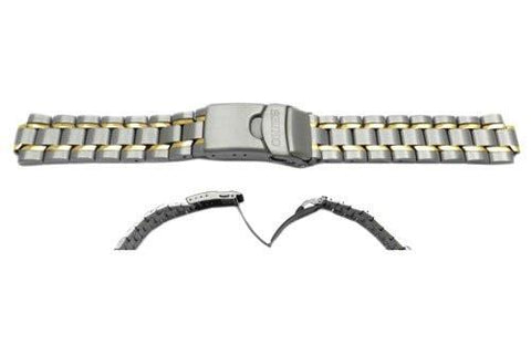 Seiko Dual Tone Titanium Metal Kinetic Watch Band