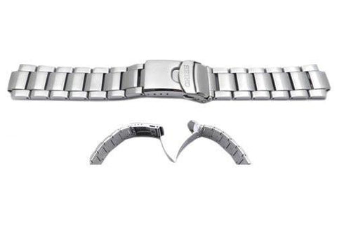 Seiko Stainless Steel Push-Button Fold-Over Clasp With Safety Watch Band
