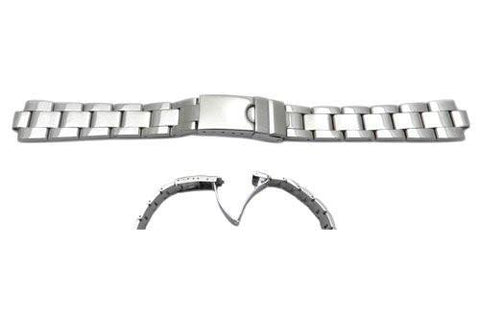 Swiss Army Stainless Steel Silver Tone 6/15mm Polished Ladies' Watch Strap