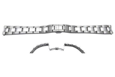 Swiss Army Stainless Steel Silver Tone Double Fold-Over Deployment Clasp Ladies' Watch Band