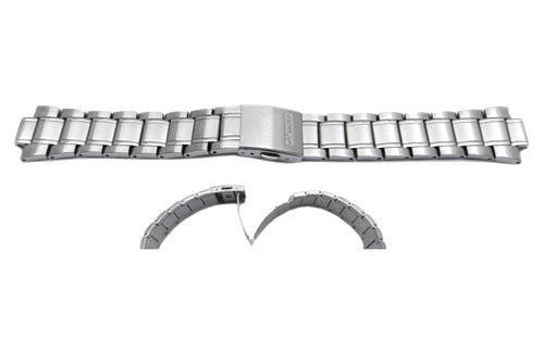 Seiko Polished Stainless Steel 22mm Push Button Fold-Over Clasp Watch Band