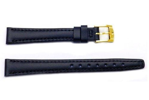 Genuine Movado Black Leather Watch Band