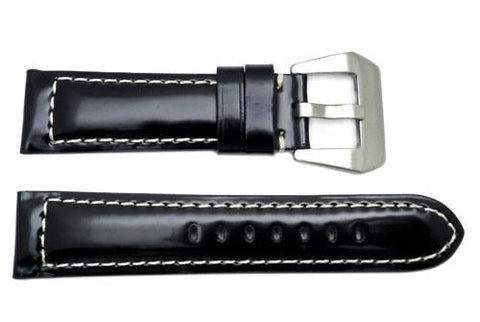 Crystal Calfskin Leather Sport Watch Strap