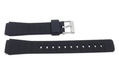 Timex 16mm Black Rubber Performance Sport Watch Band