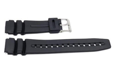 Timex 19mm Black Rubber Performance Sport Watch Band