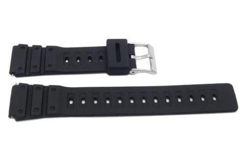 Timex 20mm Black Rubber Performance Sport Watch Band