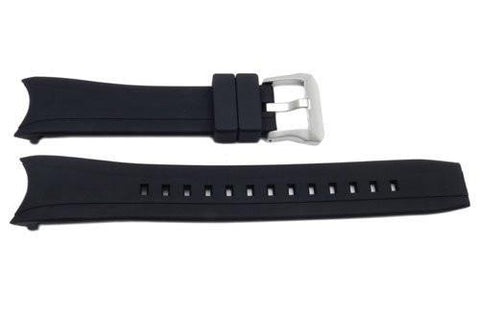 Genuine Citizen Rubber Black 22mm Watch Strap