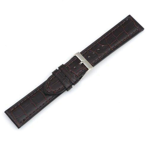 Swiss Army Alliance Chrono Brown 21mm Alligator Grain Leather Watch Strap